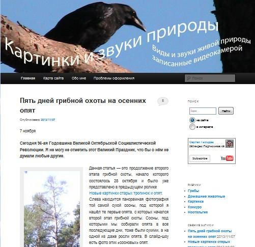 Блог Сергея Гвоздева,  блог пенсионера, CMS WordPress