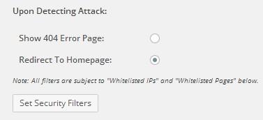 WordPress Firewall 2, в настройках нужно указать, куда будет перекинут злоумышленник