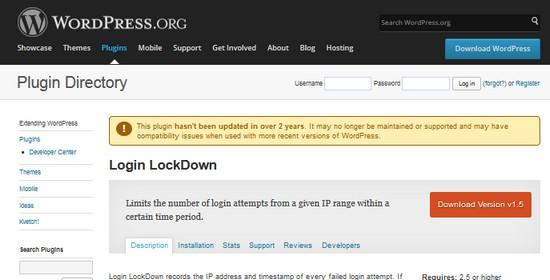 сайт wordpress.org предупреждает, что плагин устарел