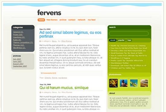 Ferevens - бесплатная тема
