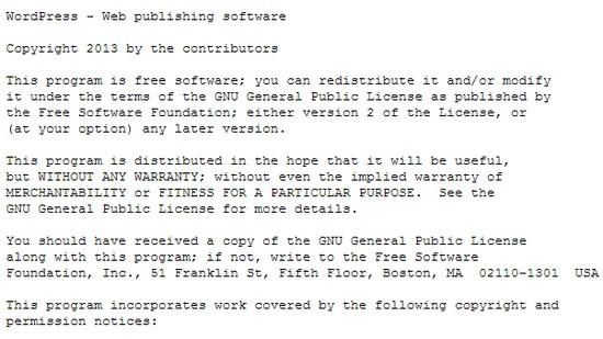 Файл license.txt, как защитить блог от взлома