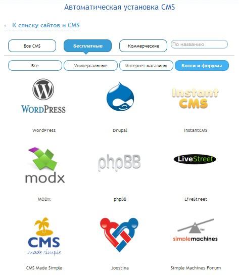 бесплатные CMS для блогов и форумов