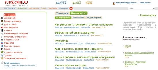 сабскрайб, сабскрайб.ру, сабскрайб группы, сайт сабскрайб, Subscribe, http://subscribe.ru, subscribe.ru, subscribe